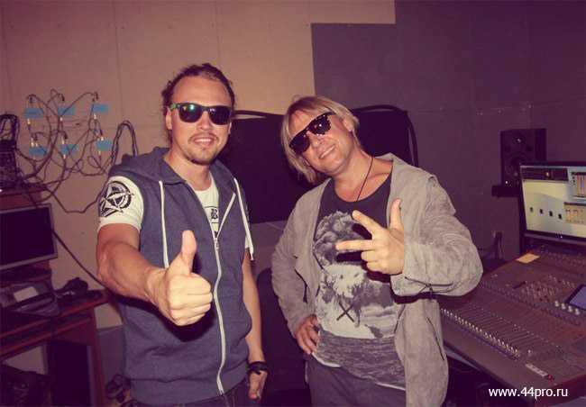 Дмитрий Харатьян и Димосс на записи песни