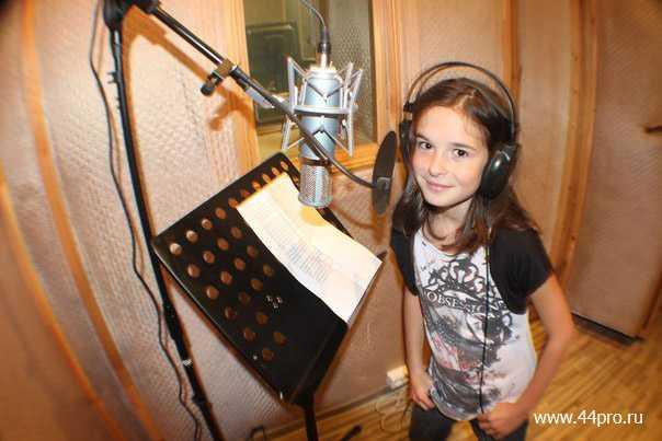 Саша 11 лет, запись песни на день рождение